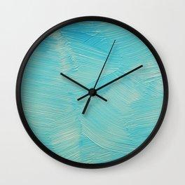 Blue paint streaks Wall Clock
