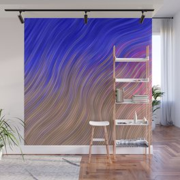 stripes wave pattern 2 with lines vmagi Wall Mural