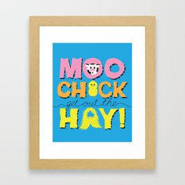 Moo Chick [Blue] Framed Art Print