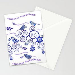 Hanukkah Seasons Tweetings  Stationery Cards