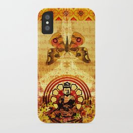 Buddha and Butterflies iPhone Case
