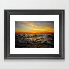 Sunset over Lake Huron Framed Art Print