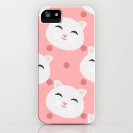 Cats pattern background iPhone Case