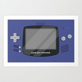 Gameboy Advance - Indigo Art Print