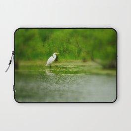 Marsh Egret Laptop Sleeve