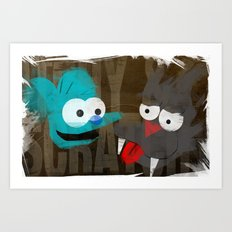 The Simpsons - Itchy & Scratchy Art Print