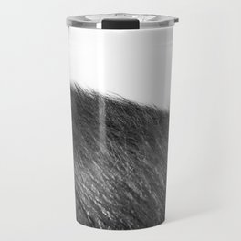 beachgrass b&w Travel Mug