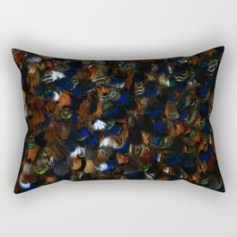 Colourful Feather Cloak Rectangular Pillow