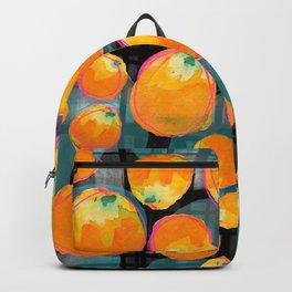 Oranges on Black Backpack