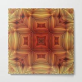 Wicker Pattern Fun Metal Print