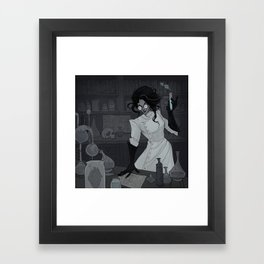 Drawlloween Laboratory Framed Art Print