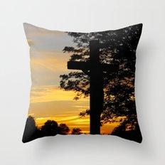 MM - Crucifix in dusk Throw Pillow