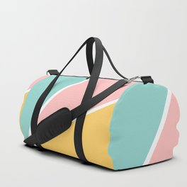 Tropical summer pastel pink turquoise yellow color block geometric pattern Sporttaschen
