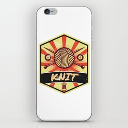 Knitting Propaganda | Knit Wool Hobby iPhone Skin