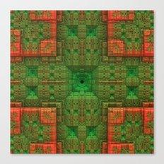 Green/Orange Canvas Print