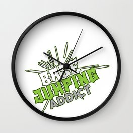 Base Jumping Jump Sky Diving Dive Parachuting Gift Wall Clock