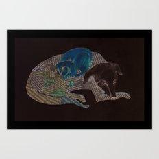 Dog and Cat Art Print