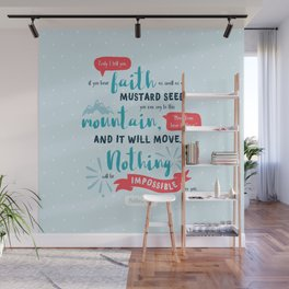 """""""Nothing Will Be Impossible"""" Hand-Lettered Bible Verse Wall Mural"""