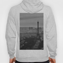 Black &White Paris From Above Hoody