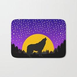 Wolf Moon Stars Bath Mat