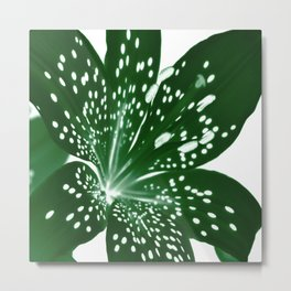 Lily Infrared In Green Metal Print