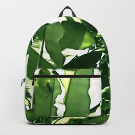 Banana Leaves Illustration Backpack