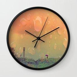 Rain in September Wall Clock