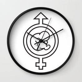 Fertility Symbol, design by KPC Studios Wall Clock