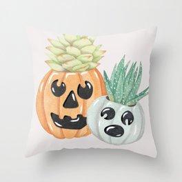 Jack O' Lanterns Throw Pillow