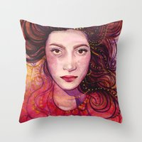 witch Throw Pillows featuring WITCH by Verismaya