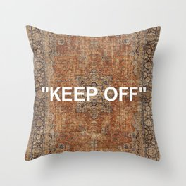 KEEP OFF - antique persian rug Throw Pillow