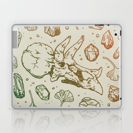 Triceratops Rocks! | Leaf Green & Pumpkin Spice Ombré Laptop & iPad Skin