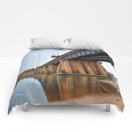 Rustic Leesylvania Bridge Comforters