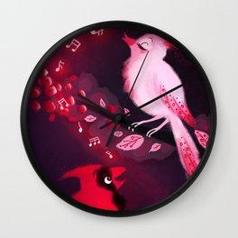 Cardinal Song Wall Clock