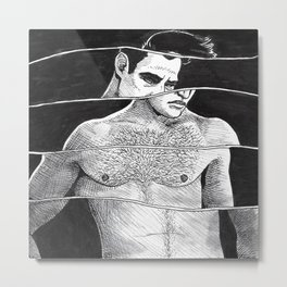Marlon Brando, Crooked Metal Print