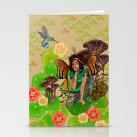 tina fey Stationery Cards featuring Forest Fey by Winsome kindle