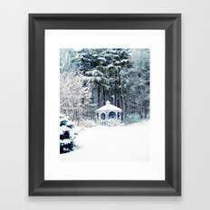 Snowy Gazebo Framed Art Print