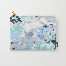 Silva - abstract painting large canvas art print for modern decor cool blue relaxing design urban Carry-All Pouch