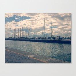 Cervia Port Canvas Print