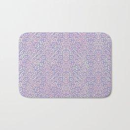 Lavender Purple Cat Print Animal Pattern with a Blush of Pink Bath Mat