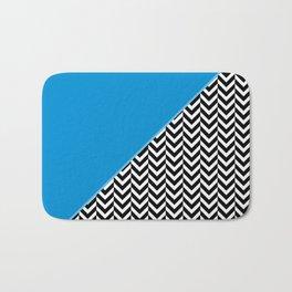 Chevron and Blue Bath Mat