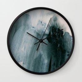 greyish brush strokes Wall Clock