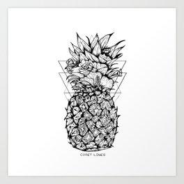 Pineapple Dreaming Art Print