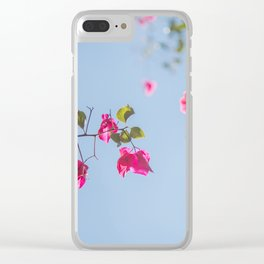 Bougainvillea Clear iPhone Case