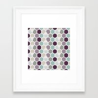 honeycomb Framed Art Prints featuring Honeycomb by Kathrin Legg