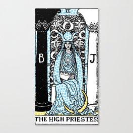 Modern Tarot - 2 The High Priestess Canvas Print