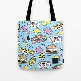 Cat Jams Tote Bag