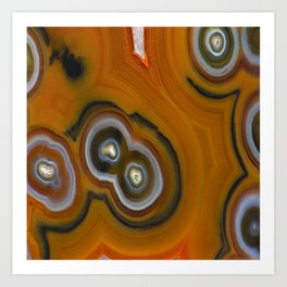 Condor Eye Agate Art Print