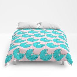 Teal Sprinkled Donut Comforters