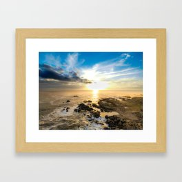 Cape Town Sunset Framed Art Print